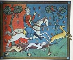 King John hunting deer in a Royal Forest