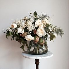 Plant and Animal Love | Bouquet | Flowers | Roses | Ferns | Katharine Kidd