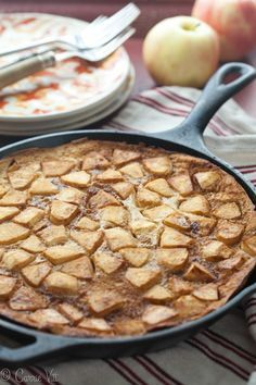 Apple Pancake (Grain Free, Paleo) | DeliciouslyOrganic.net