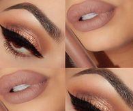 Matte lipstick and bold liner