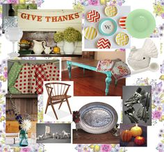 Vintage Thanksgiving Table mood board