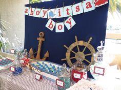 Ahoy It's a Boy! Candy Table by OC Sugar Mama
