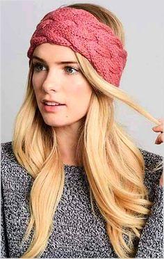 New crochet headband hippie ear warmers ideas Knit Headband Pattern, Knitted Headband, Knitted Hats, Knitting Stitches, Free Knitting, Knitting Patterns, Winter Headbands, Headbands For Women, Knit Crochet