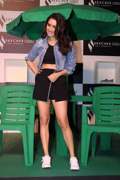 Shraddha Kapoor Sexy Legs Photos At Skechers Street Party Launch