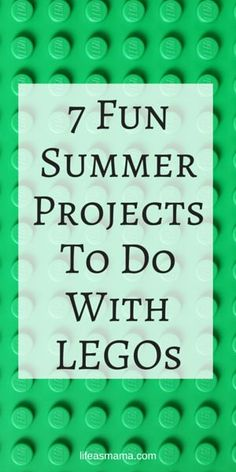 There are many activities that children can do with LEGOs to build their STEM (science, technology, engineering & mathematics) and sensory skills, and I've got 7 that are great for summer! Check these out. Your kids will have lots of summer fun with these!