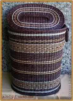 Поделка изделие Плетение Май Бумага газетная Трубочки бумажные фото 2