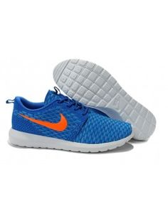 new style 496a7 c919a Nike Roshe Run Flyknit Light Blue Men Shoes Orange Shoes, Blue Orange,  Cheap Nike