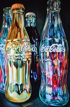 A pencil drawing of Coca Cola bottles #pencil #drawing #art