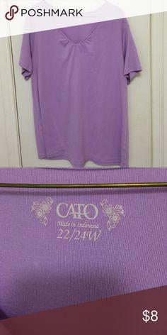 Basic lilac tee from Cato, 22/24 Basic lilac tee from Cato, 22/24 Cato Tops Tees - Short Sleeve