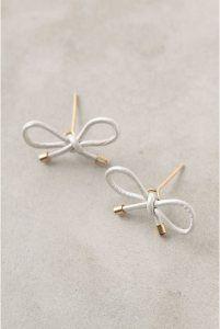 DIY - Anthropologie Inspired Bow Stud Earrings Tutorial