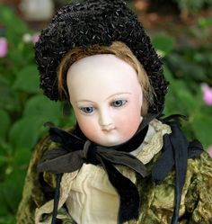 "Antique Bru French Fashion doll 13"" round face swivel head kid body original…"