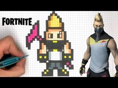 chadessin pixel art fortnite - YouTube Image Pixel Art, Modele Pixel Art, Pixel Drawing, Pixel Color, Minecraft Pixel Art, Pixel Pixel, Pix Art, Pixel Art Games, Minecraft Crafts