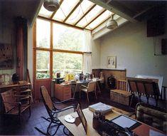 "Classics of Architecture — Alvar Aalto ""Villa Mairea"", interior views . Home Interior Design, Interior Architecture, Interior And Exterior, Alvar Aalto, Cabin In The Woods, My Dream Home, Interiores Design, Tiny House, Living Spaces"
