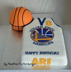 Golden State Warriors Basketball Birthday sheet cake