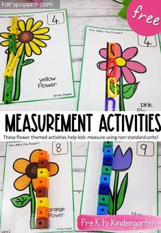Flower Measurement Activities   Fairy Poppins