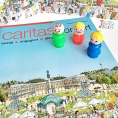 "The local Caritas Magazine was happy to use one of my hidden pictures that I once illustrated for the picture book ""Mein Stadt-Wimmelbuch Stuttgart"" (Willegoos Verlag). The Cover turned out wonderful.  by johannafritzillustration"