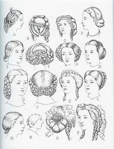 Modes de coiffure Victoria et Elizabeth civil war era hair fashion