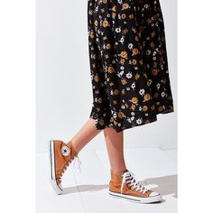 Converse Chuck Taylor All Star Orange High Top Sneaker ($60) ❤ liked on Polyvore featuring shoes, sneakers, high top shoes, star shoes, hi tops, orange sneakers and converse high tops