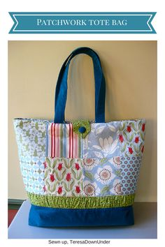 pattern, purse, tutorial Charm pack tote bag tutorial May 2, 2011 TeresaDownUnder89 Comments  Patchwork tote bag tutorial  Flickr group  If you have made a tote bag using this tutorial, why don't you share your pictures on this Flickr group?  16 charms – I used Verna by Kate Spain 1/3 yard matching fabric for the bottom of the bag and the handles 1/4 yard of matching fabric for the gathered strip and the loop closure 1/2 yard of matching fabric for the lining 1 self covered bu...