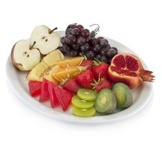 Fruit Platter ($77) ❤ liked on Polyvore featuring home, kitchen & dining, serveware, fruit platter, colored plates and fruit plate