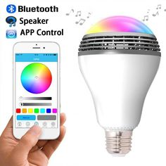 Lights & Lighting Sweet-Tempered Bluetooth Led Bulb Speaker Flame Effect Light Music Player Dimmable Voice Control With 24keys Romote Controller For Bar Party