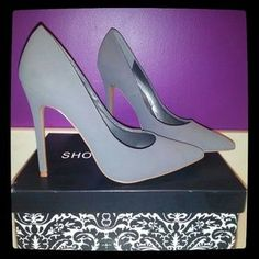2cf95eb1b9b9 Shoe Republic LA Shoes - NWB Women s Grey Pointy Toe Heels