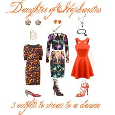 Daughter of Hephaestus - 3 outfits to wear to a dance by george-alban on Polyvore