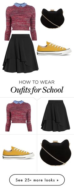 """late for school"" by opxime on Polyvore featuring Carven, Alexander McQueen, Converse and New Look"