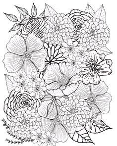 Flor para colorear flores para colorear página página para