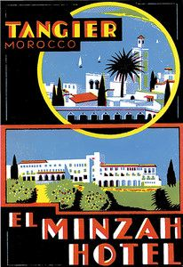 Poster Travel Vacation Holiday El Minzah l Hotel Tangier Morocco