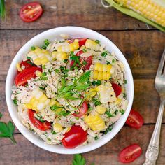 Orzo Salad with Chicken, Corn And Tomatoes. | 23 Delicious Lunches To Brighten Up Your Day At Work