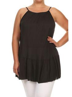 d95b2a0eee7 Plus Size Drop Waist Criss Cross Back Black Top – PLUSSIZEFIX Plus Size  Women s Tops