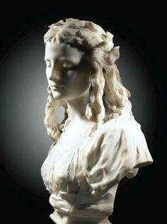Jean-Baptiste Carpeaux (Francia, 1827-1875) - El candor, 1873. Mármol, 66 cm de altura- (colección privada)