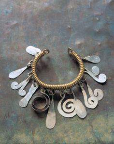Bracelet   Alexander Calder. Brass, silver and steel wire. ca. 1930