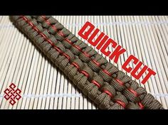 Chain Sinnet Paracord Bracelet Tutorial Quick Cut - YouTube