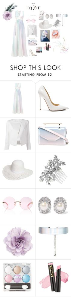 """""""Over the Rainbow"""" by foxxyslang ❤ liked on Polyvore featuring Zuhair Murad, Jimmy Choo, Plein Sud Jeanius, M2Malletier, Dorothy Perkins, ASAP, Jon Richard, Karen Walker, Kenneth Jay Lane and Cara"""