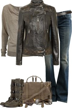 """""""Biker Jacket"""" by partywithgatsby on Polyvore"""