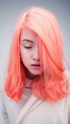 Peach cotton candy
