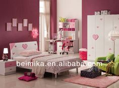 Kids Bedroom Furniture Set Cheap Girls Bed/bedroom Set Of Glossy Style/preschool…