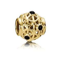 Pandora Charm Gold with Onyx 750508ON