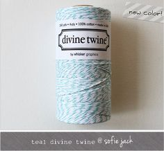 NEW COLOR  Teal Divine Twine  20 yards by sofiejack on Etsy, $2.00