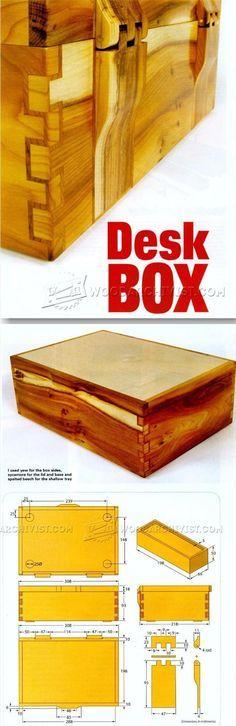 Desk Box Plans - Woodworking Plans and Projects   WoodArchivist.com