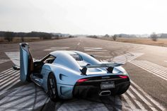 The Koenigsegg Agera unveiled at the 2011 Geneva Motor Show by the Swedish car manufacturer. The car is one of the fastest production cars in the world. Koenigsegg, Exotic Sports Cars, Exotic Cars, My Dream Car, Dream Cars, Aston Martin, Pontiac Gto, Bugatti Veyron, Electric Cars