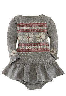 Ralph Lauren Childrenswear Snowflake Print Dress