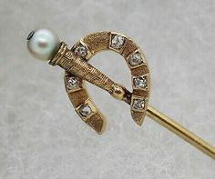 Lucky Horseshoe, Stick Pins, Hat Pins, Antique Jewelry, Jewelry Collection, Diamond Cuts, Jewels, Antiques, Metal