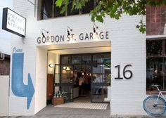 Former Auto Garage turned into Chic Restaurant – Architecture . Cafe Signage, Store Signage, Entrance Signage, Cafe Design, Store Design, Shop Front Design, Restaurant Design, Restaurant Bar, Garage Cafe