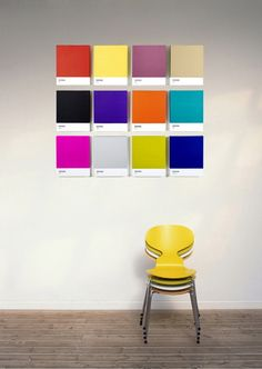 Pantone Kunstwerk // Pantone Art Display - probably really easy to paint in your fave color palette