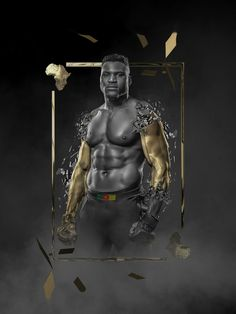 by Bosslogic. From the sand quarries of Cameroon to the bright lights of Las Vegas. Son of Africa, Champion of the world. Francis Ngannou marches to the throne. There's something out there waiting for us, and it ain't no man. The Predator was once the scariest man on the planet, he is now the baddest man on the planet. Francis Ngannou will be the first African-born heavyweight champion in UFC history. Ben Brown, Brave Browser, Champions Of The World, Digital Wallet, Sports Images, Bright Lights, Predator, Las Vegas, Waiting