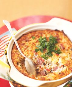 This filling, flavorful casserole only packs 175 calories per serving—yes, we're serious. #casserole #lowcal