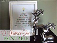 Simply Dream & Create: O Christmas Tree Printable